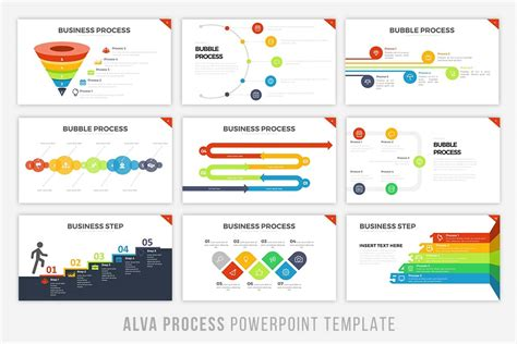 powerpoint process template alva process powerpoint template by bra design bundles