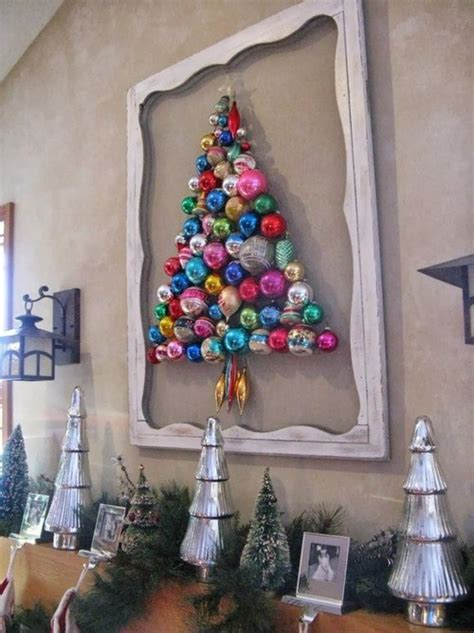 hand made wall christmas trees interior design