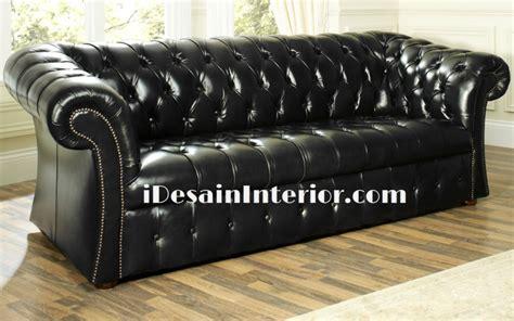 Kursi Sofa Bahan Kulit jual kursi chesterfield sofa kulit mewah idesaininterior