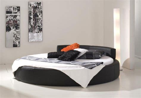 round leather bed round leather bed