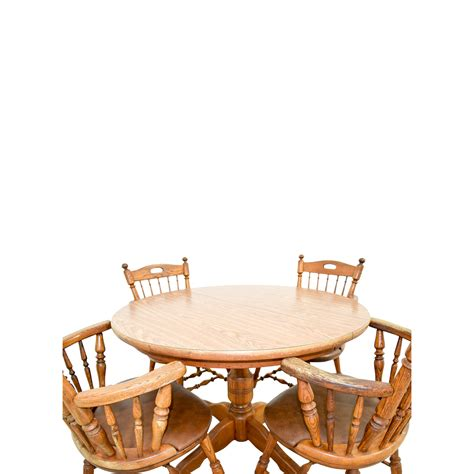 round dining table with armchairs 88 off round wood dining table with armchairs tables