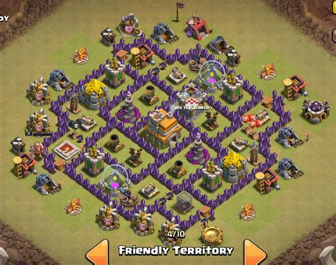 layout coc war th7 the gallery for gt town hall 10 war base