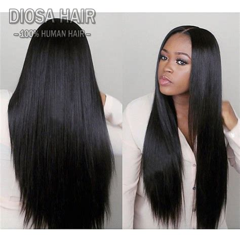 long black hair with part in the middle virgin u part wig human hair middle part u part human hair