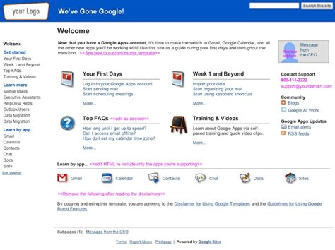 google intranet templates choice image templates design