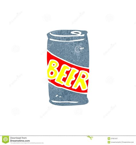 beer can cartoon retro cartoon beer can royalty free stock photography