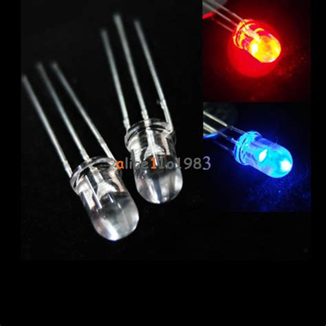 3mm Two Color Green Led Common High Quality Cheap Color Module 5mm 3pin diffused two bi color green light common