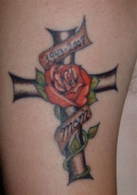 cool rose tattoos pin for tattoos tagged as crosses with roses designs on
