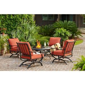 pit patio set hton bay outdoor pits redwood valley 5 patio