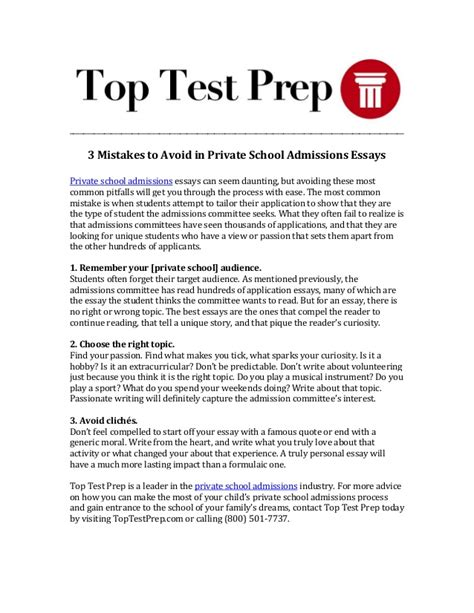 College Acceptance Letter Mistake Lawsuit 3 Mistakes To Avoid In School Admissions Essays Toptestprep