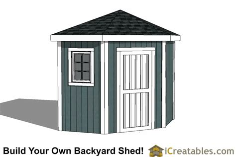 3 Sided Shed Plans Free by 5 Sided Corner Shed Plans