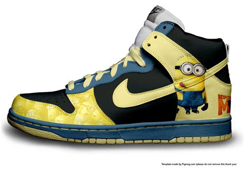 minion shoes dispicable me minions nike by l3ouncingx on deviantart