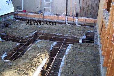 Adding Plumbing To Slab Foundation by Landing Footing Concrete Building Foundation