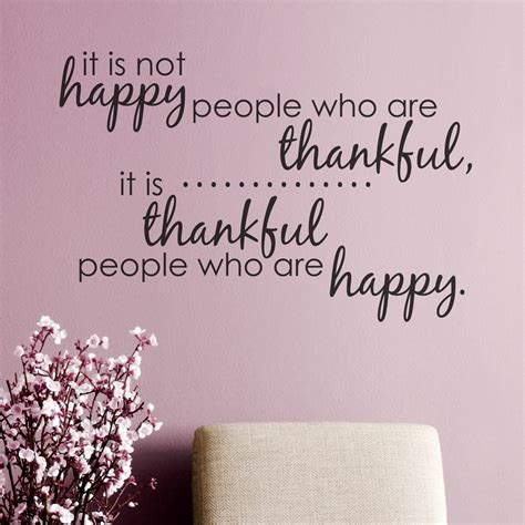 thankful quotes thankful wall quote decal