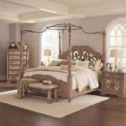 Antique Canopy Bedroom Furniture Awesome Antique Linen Wood Metal King Canopy Poster Bed