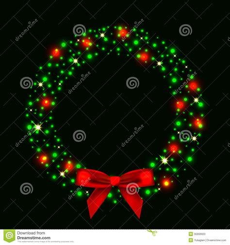 door wreaths with lights illustration of wreath from lights with stock