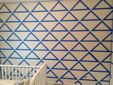 triangle pattern wall diy triangle accent walls made easy echotape