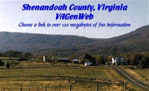 Shenandoah County Records Shenandoah County Virginia Genweb