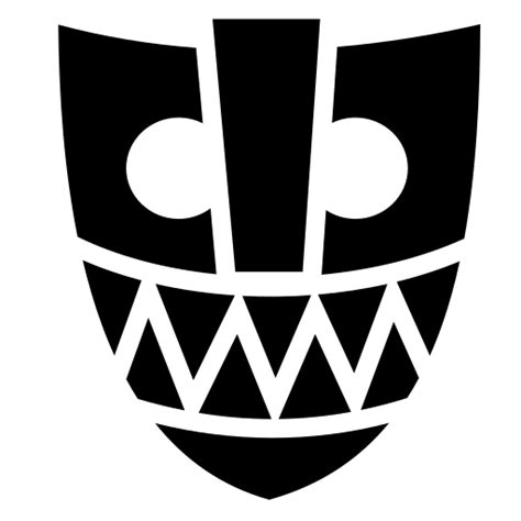 Tribal mask icon | Game-icons.net
