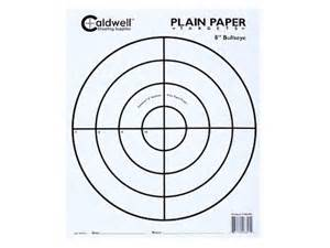 caldwell plain paper targets 8 bullseye package of 25