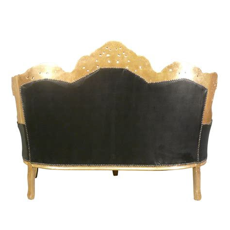 divani barocco divano barocco nero in legno dorato mobili barocchi