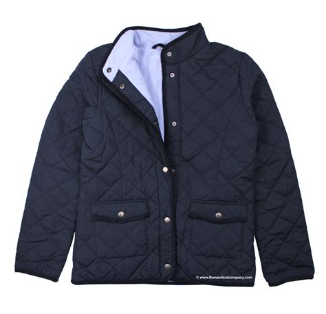 Navy Quilted Jacket Womens by S Navy Blue Fleece Lined Quilted Jacketfor