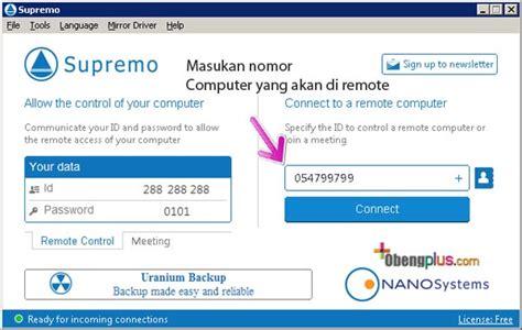supremo remote software remote desktop mengendalikan computer dengan
