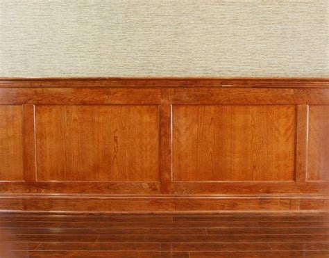 Cherry Wainscoting Panels by Stained Wood Wainscoting Custom Recessed Panel