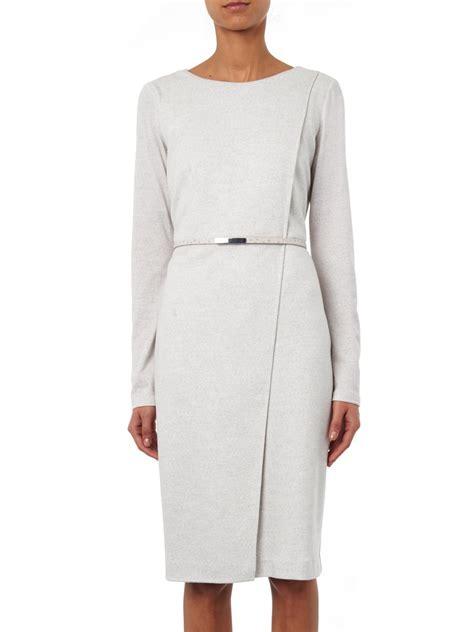 Maxmara Dress lyst max mara crusca dress in gray