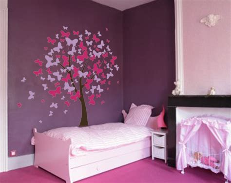 butterfly wall stickers for bedrooms butterfly tree nursery wall decal 1140 innovativestencils