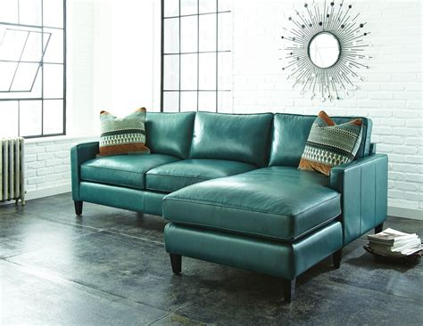 Blue Leather Chair And Ottoman Design Ideas Teal Blue Leather Sofa Alec Leather Sofa Furniture Macy S Thesofa