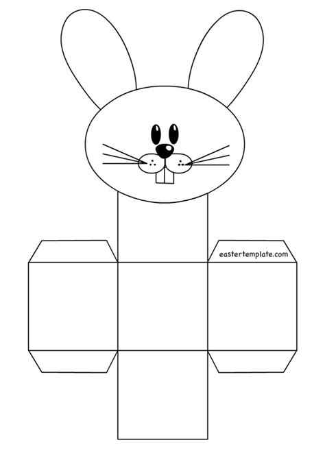 easter bunny basket template printable printable easter basket templates happy easter 2017