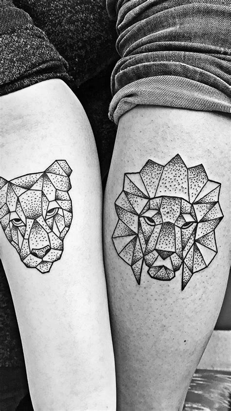 couple tattoo lion and lioness lion and lioness love tattoo www imgkid com the image