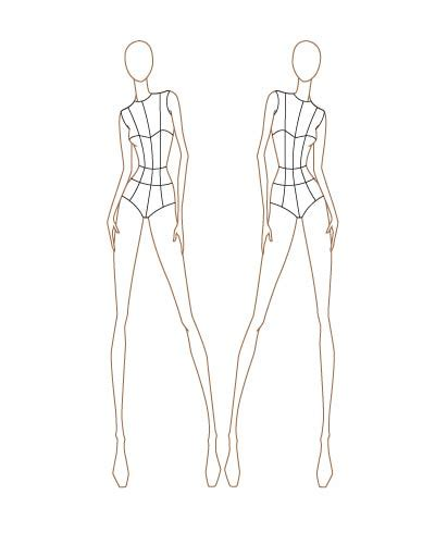 fashion design silhouette templates september 2011 thinkitpink