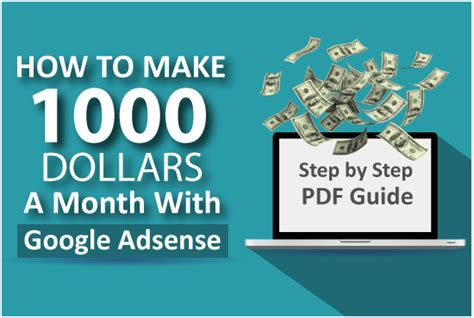 How To Make Money Online 1000 Dollars A Day Easy - show you how to make 1000 dollars a month with google adsense by ammaring