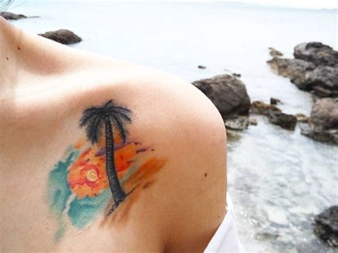 watercolor tattoo 5 years later best 25 tropical ideas on palm tree