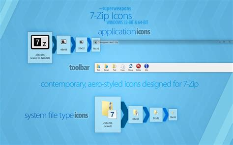 themes for windows 7 zip 7 zip 9 32 icons by superweapons on deviantart