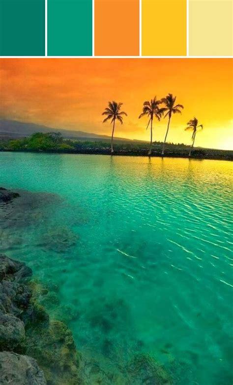 hawaiian island colors best 25 orange color schemes ideas on blue