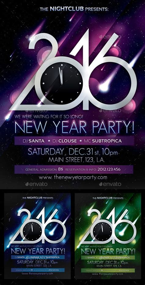 new year template psd poster new years and new year s on