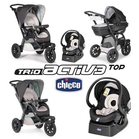 Chicco Top 1 chicco poussette combin 233 e 3 en 1 trio activ3 top dune 3