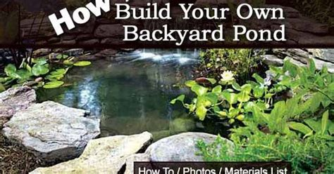 how to build your own backyard pond tutorial or contact us for a list of professionals who can
