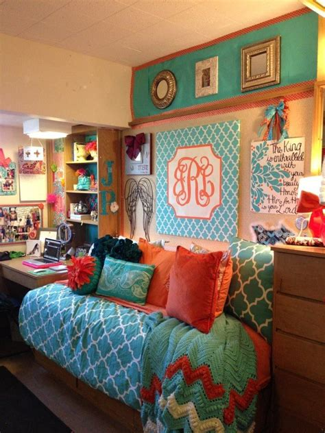 cute room colors cutest dorm ever monogram college pinterest