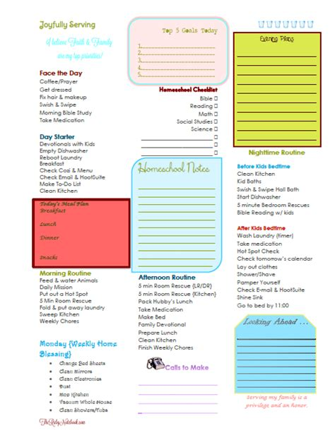free printable daily planner for moms free daily weekly planner printables for homeschool moms