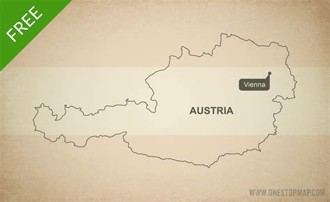 free vector map free vector map of austria outline one stop map