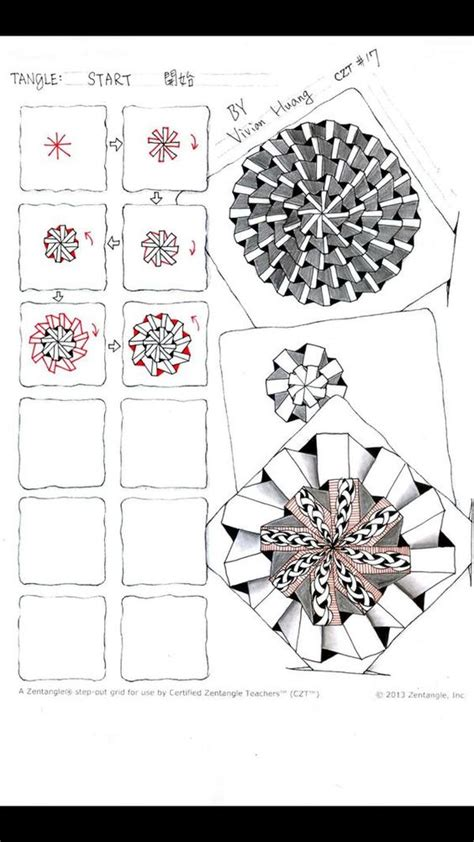 starting doodle start zentangle tangle by huang
