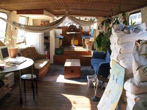 living on a boat spain houseboat interior www imgkid the image kid has it