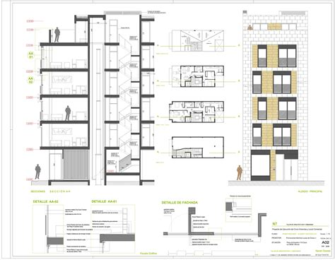 residential building section gallery of residential building in cieza xavier ozores 24