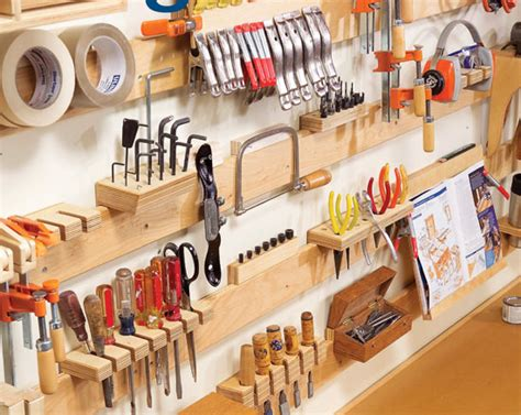 pictures diy ideas for organizing your shop hyperorganize your shop small garage cleat and slat wall