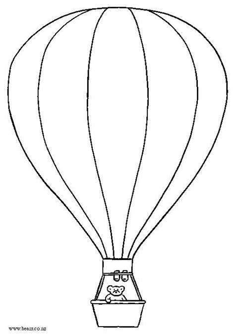 air balloon template printable air balloon printable ideas for