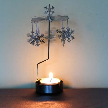 christmas rotary tealight holder