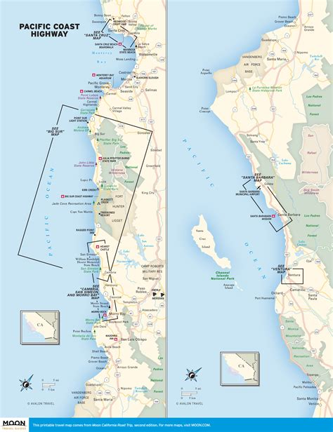 Map Of Pch - pacific coast highway beaches road trip usa